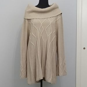 Tunic Length Oatmeal Sweater